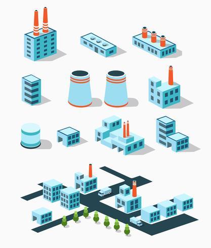 Industribyggnader vektor