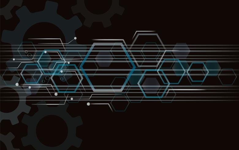 Utrustning och teknik linje utrymme abstrakt bakgrund vektor