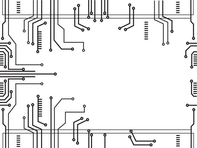 mikrochip linje teknik symbol abstrakt bakgrund vektor