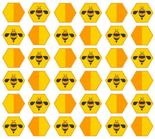 Bienenstock Pastell Cartoon Hintergrund vektor