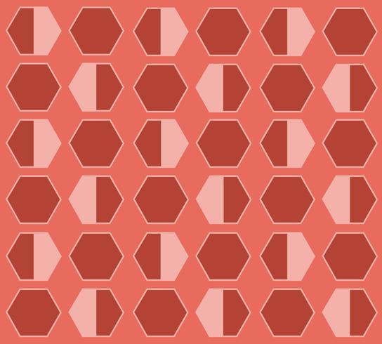 Bienenstock Hexagon Pastell Cartoon Hintergrund vektor