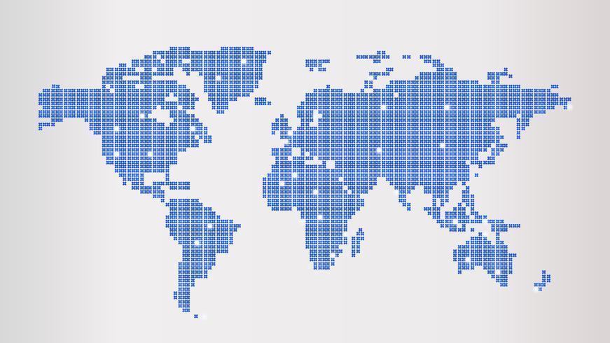 Världskarta vektor