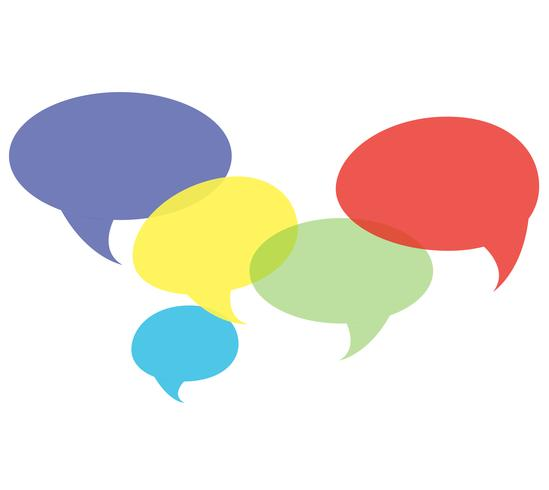 chatt symbol, kommunikation bakgrund vektor