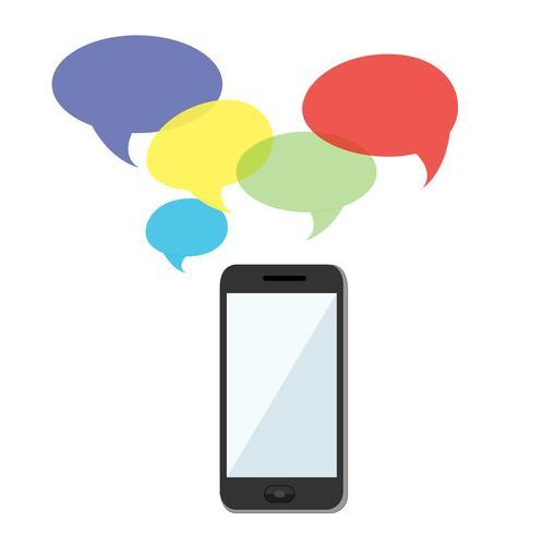 smartphone-meddelanden och bakgrundsvektor vektor