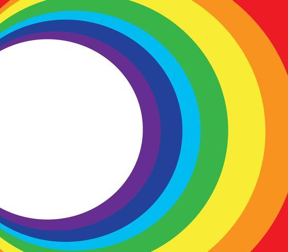 Raum und Regenbogen Kreis Hintergrund vektor