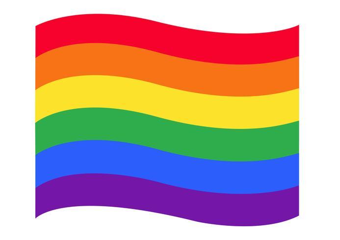 Regenbogenflagge LGBT-Symbolvektor EPS10 vektor