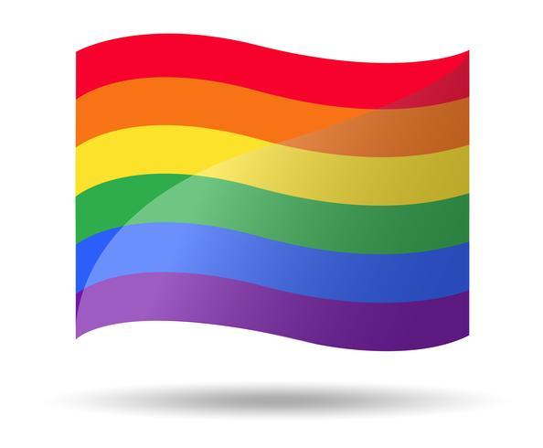 LGBT-symbol för regnbågeflagga vektor