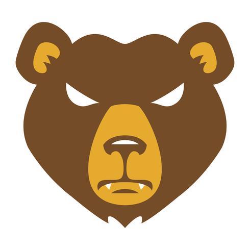 Bärn-verärgerter Gesichtskarikatur vektor