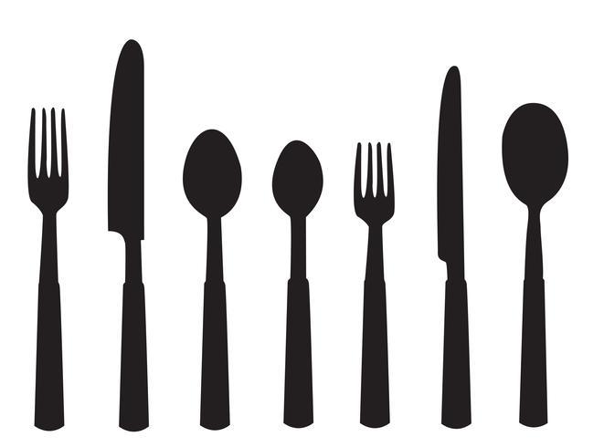 Abendessen Werkzeuge Vektor