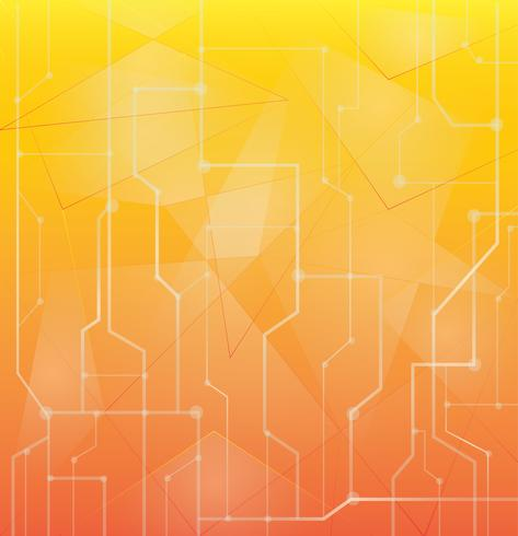 orange abstrakt teknik bakgrund vektor