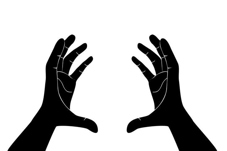 händer som håller konstvektor vektor