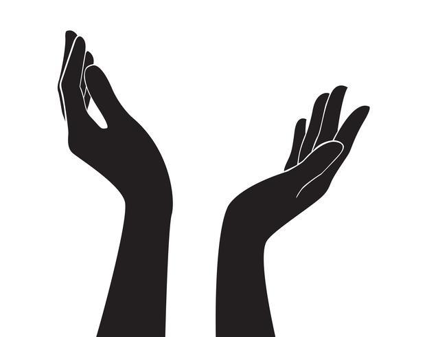 freie Hände Kunst Vektor