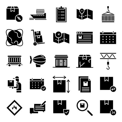 Logistische Icons Pack vektor