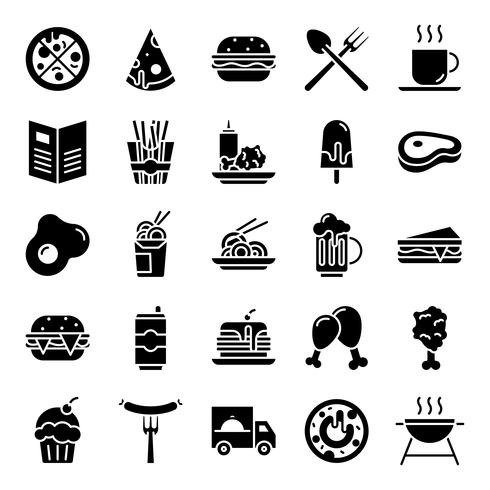 Fast-Food-Icons-Pack vektor