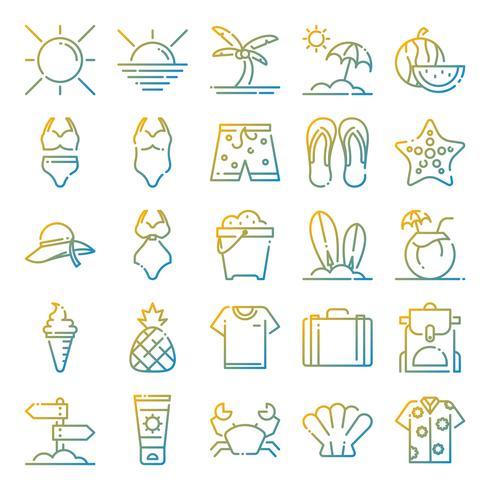 Sommer Icons Pack vektor