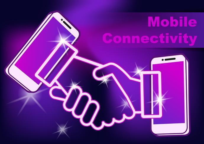 Anslutning av mobiltelefon. vektor