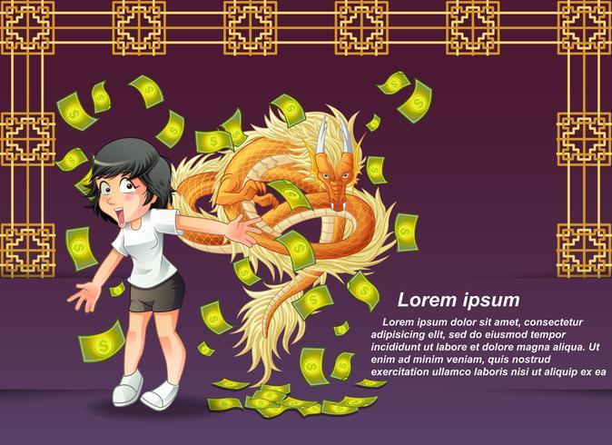 Frohes chinesisches neues Jahr. vektor