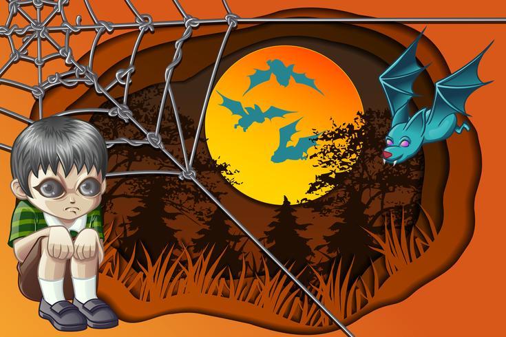 Glücklicher Halloween-Tag. vektor
