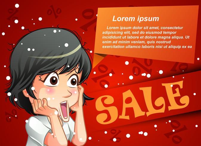 försäljning banner. vektor