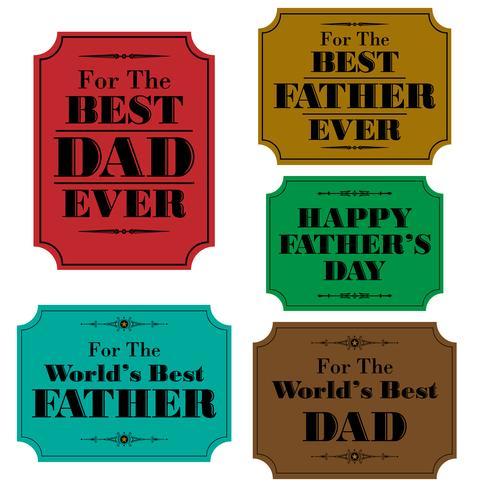 glückliche Vatertagsaufkleber vektor