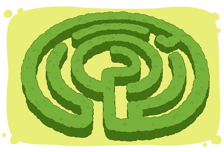 Kreisförmiges Labyrinth vektor