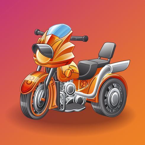 motor tricycle. vektor