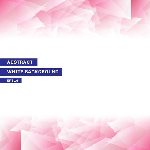 Abstrakt mall rosa låg poly trendig vit bakgrund med kopia utrymme. vektor