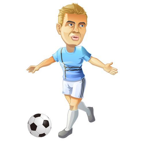 Fotbollsspelare. vektor