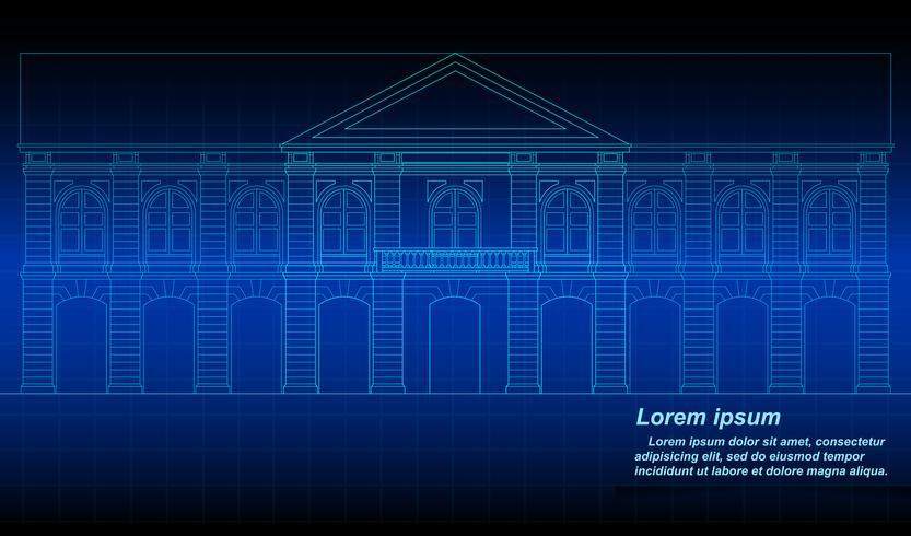 Historischer thailändischer Gebäudeentwurf. vektor