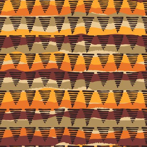 Tribal etnisk sömlös mönster med geometriska element vektor