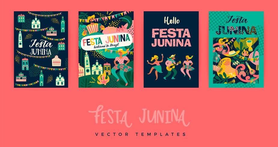 Festa Junina. Vektor-Vorlagen. vektor