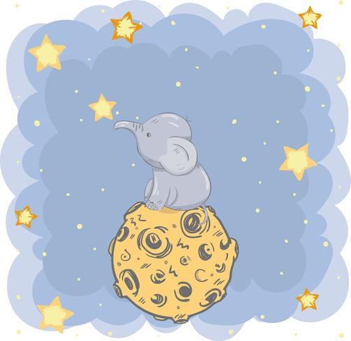 söt liten elefant vektor