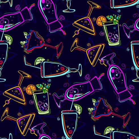 Nahtloses Muster mit Cocktails. vektor