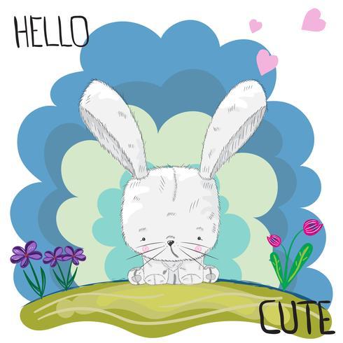 süßes kleines Kaninchen vektor