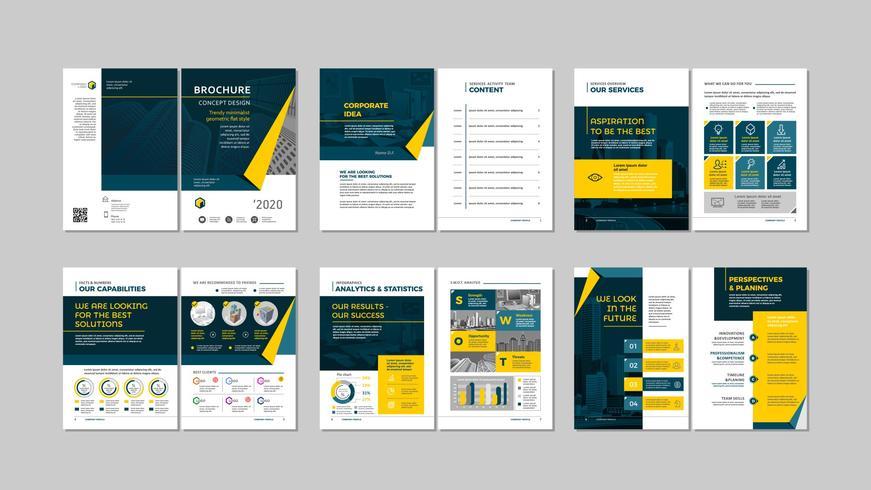 Broschüre kreatives Design. vektor