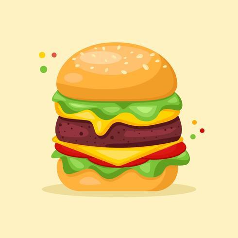 Burger Sommer essen Vektor