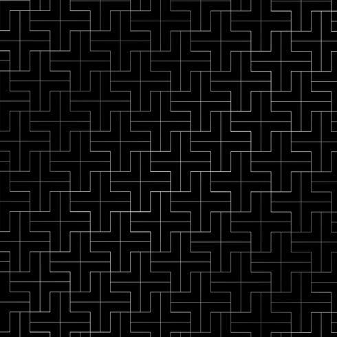 Abstraktes Wiederholen plus die silberne Farbe des Musters geometrisch auf schwarzem Hintergrund. vektor