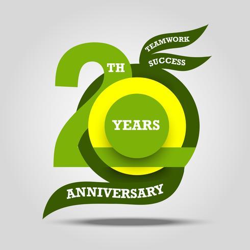 Zeichen des 20. Jahrestages und Firmenzeichenfeier vektor