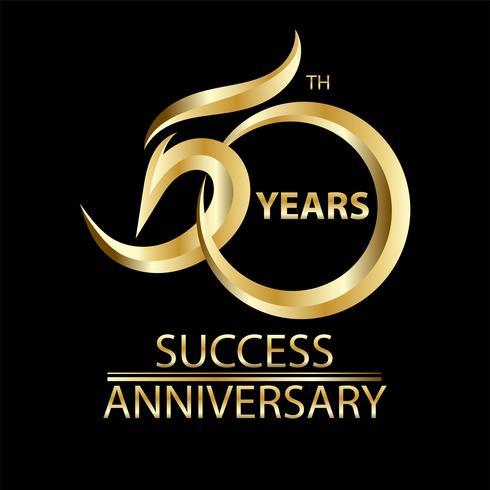 goldener 50. Jahrestag vektor