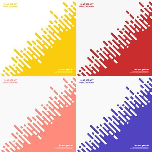 Zusammenfassungssatz färbt Streifenlinie des techno Designhintergrundes. Abbildung Vektor eps10