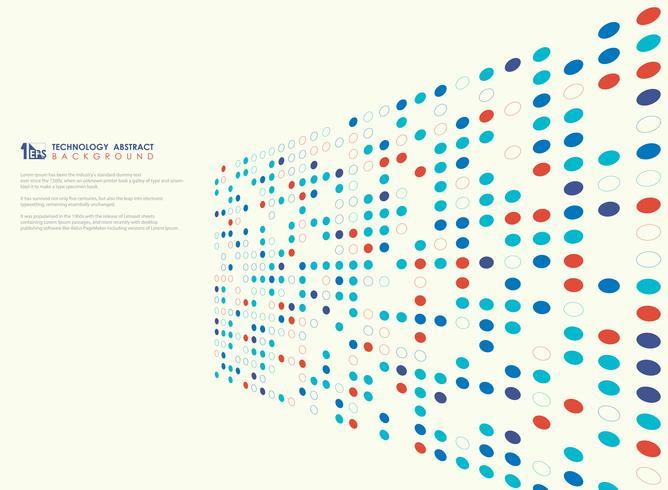 Modern teknik färger cirkel mönster av perspektiv täcka bakgrund. illustration vektor eps10