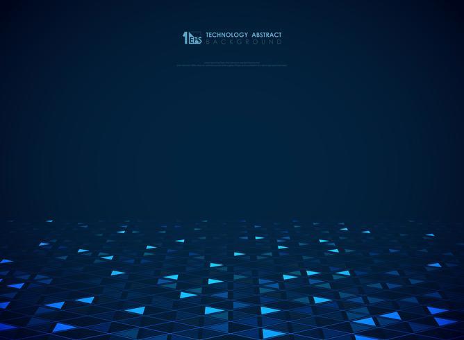Modernes blaues Technologiedreieckmuster des futuristischen Hintergrundes. Abbildung Vektor eps10