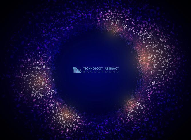 Technologiepartikelkreis-Zusammenfassungshintergrund der Steigungspurpurfarbe. Abbildung Vektor eps10