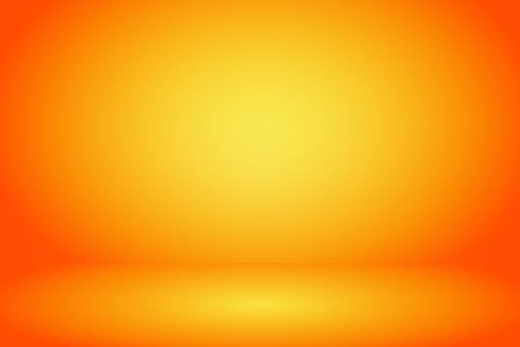 gelber und orange Studioraumhintergrund vektor