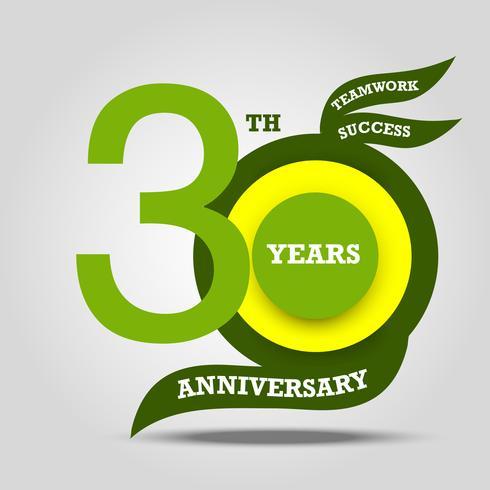 Zeichen des 30. Jahrestages und Zeichenfeier vektor
