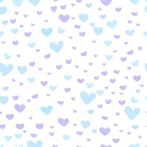 Abstrakter Musterhintergrund des Herzens, Liebesgekritzel-Artmuster, Vektorillustration. vektor