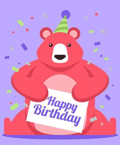 Grattis på födelsedagen Djur vektor