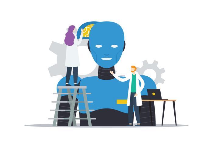 Intelligenter Roboter vektor