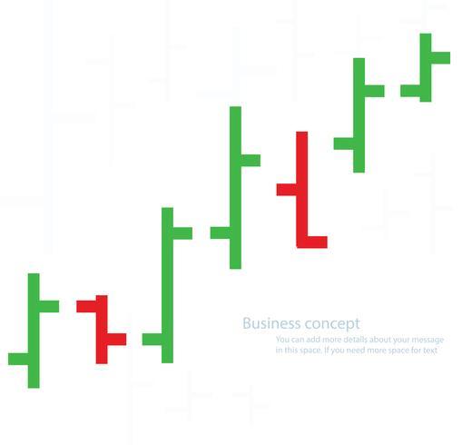 bar diagram börsen vektor illustration