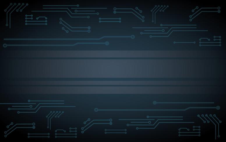 abstrakt futuristisk kretskort illustration teknik mörkblå färg bakgrund vektor